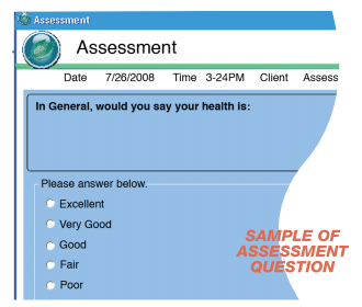 Quality of Life assessment sample question